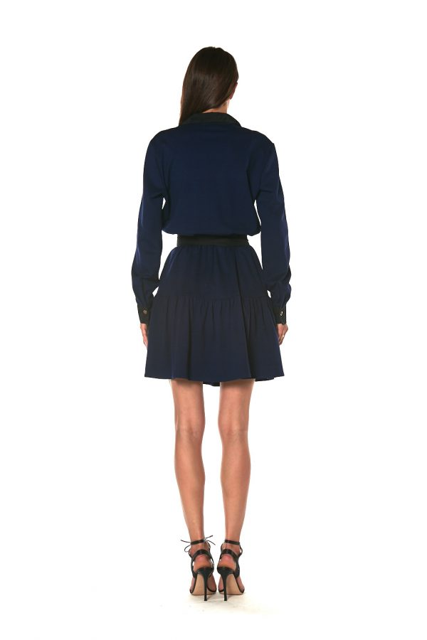 Short skirt long sleeve dress CHICAGO BLU 3 LETWINS back