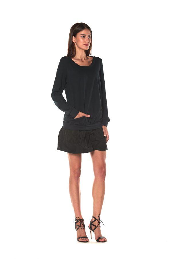 short dress long sleeve FIRENZE BLACK 1 LETWINS side