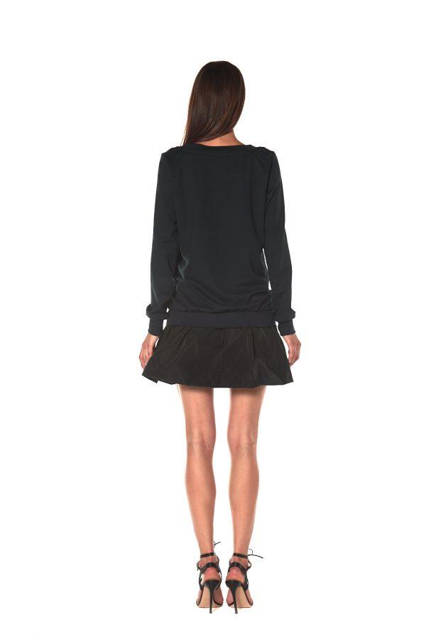 short dress long sleeve FIRENZE BLACK 3 LETWINS back