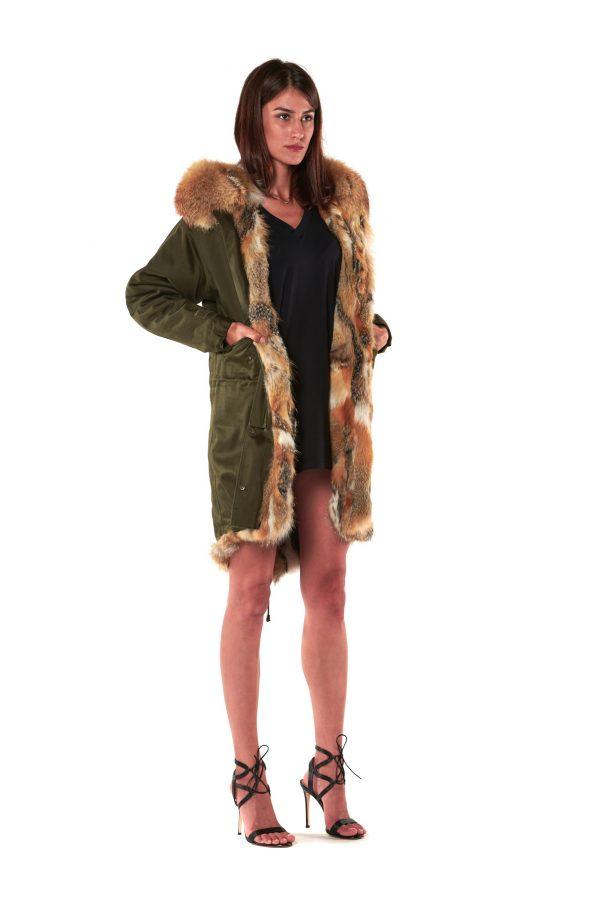 cappotto parka cappuccio