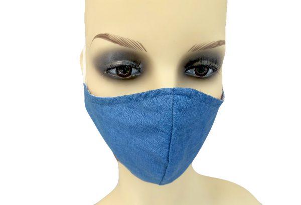 Light Denim - Filter Holder Mask Cotton - front