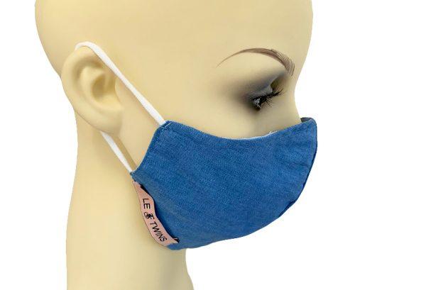 Light Denim - Filter Holder Mask Cotton - side