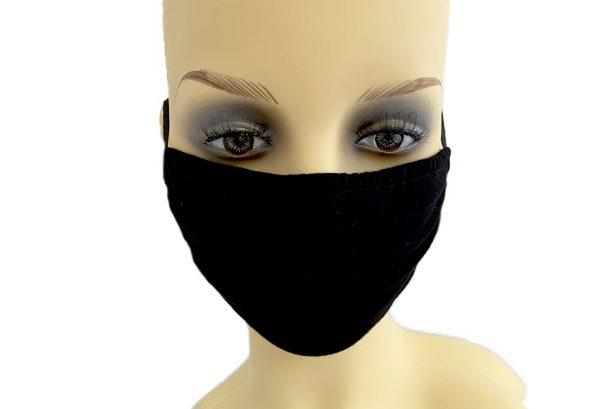 Black Jersey Filter Holder Mask front