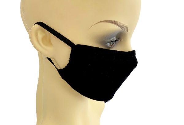 Black Jersey Filter Holder Mask side