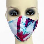 Filter Holder Mask - Fuchsia Palm Tree Viscose - front