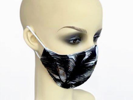 Black Palm Tree Viscose Filter Holder Mask side