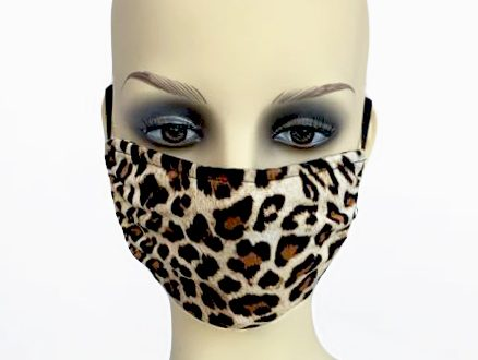 animal print mask - front