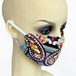 Sky Blue Print Jersey Filter Holder Mask side
