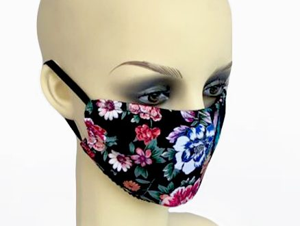 Large Flowers Mask 1 - side