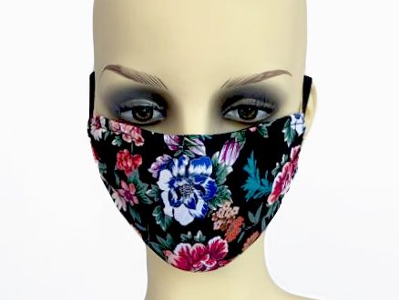Large Flowers Mask 1 - front