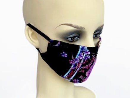Square Floral Print Jersey Filter Holder Mask side