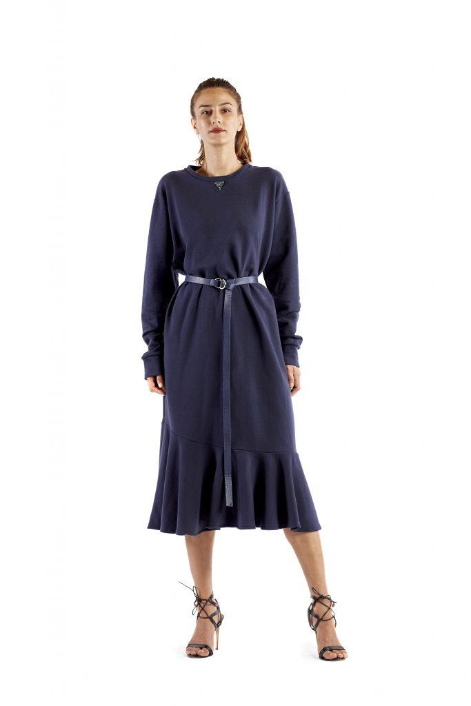 Rossella blue dress and belt