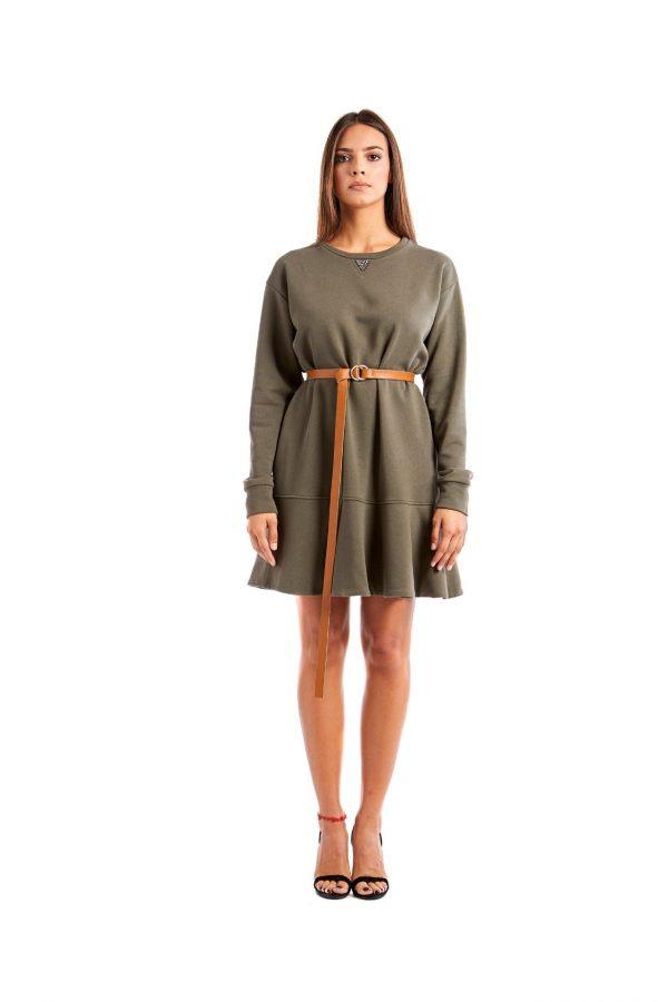 Chiara green short dress front