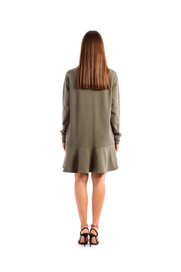 Chiara green short dress back