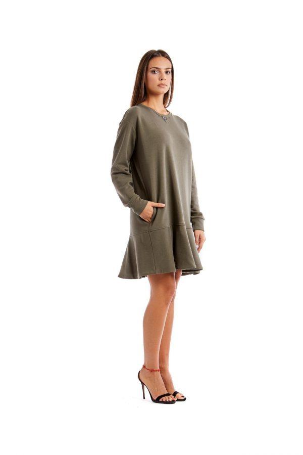 Chiara green short dress side