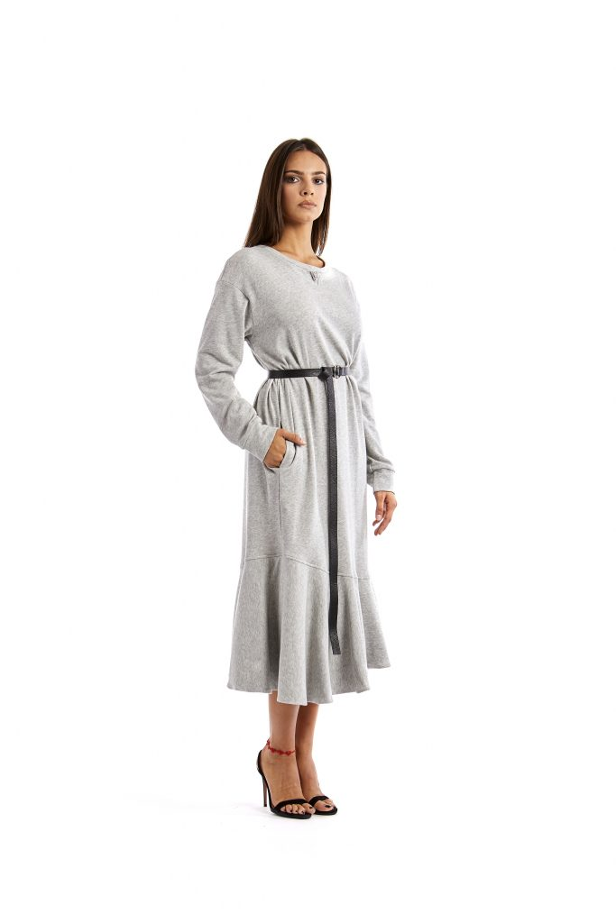 Rossella Light Grey Dress