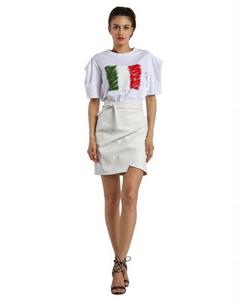 Grazia faux leather skirt