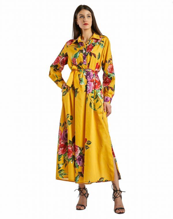 Laura giallo con rose - posa