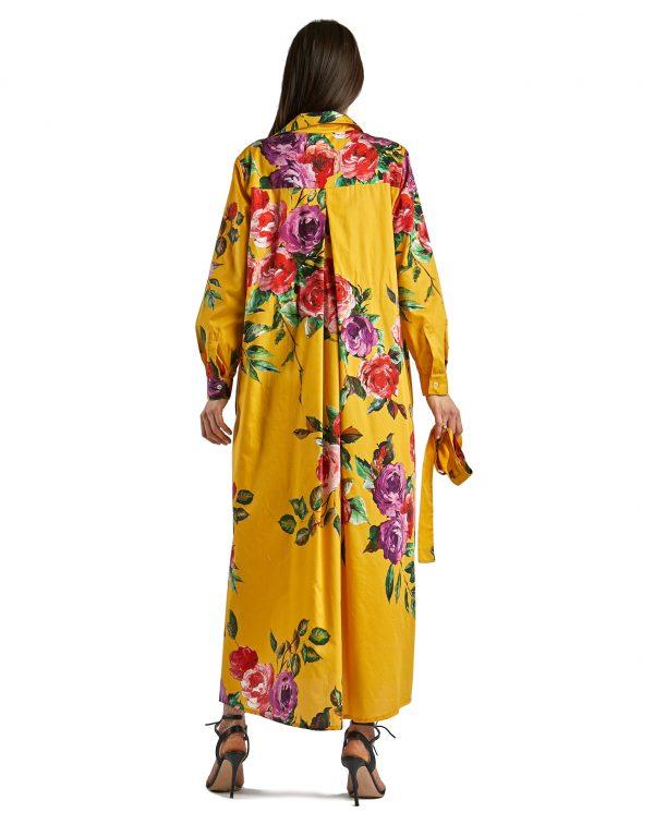 Laura giallo con rose - retro aperto