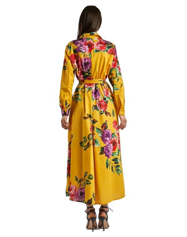 Laura giallo con rose - retro chiuso