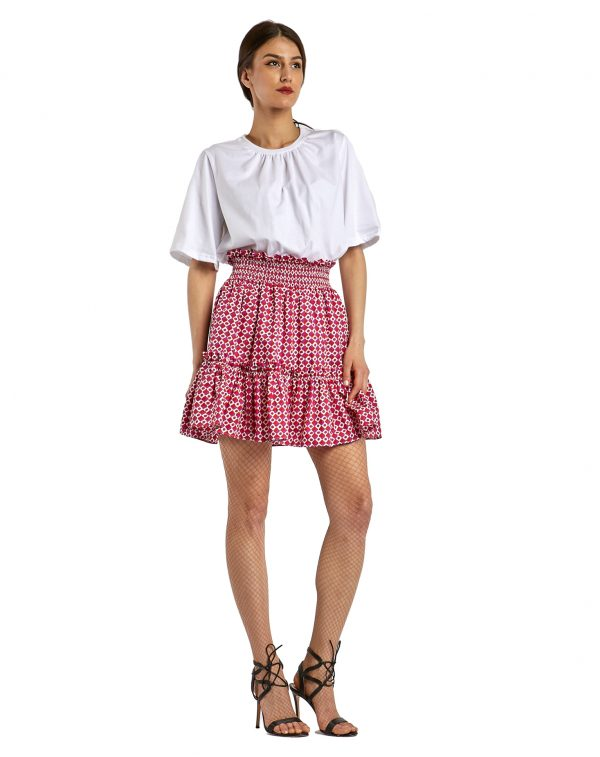 Mykonos Gaia white red skirt - side