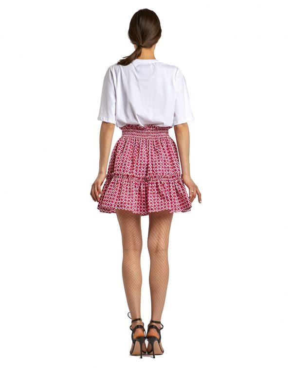 Mykonos Gaia white red skirt - back